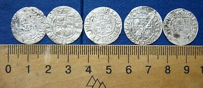 5 Silver coins Ancient Medieval archaeological find