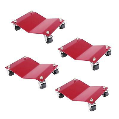"4 Auto Dolly M998002 Red Car Dollies 12"" x 16"" x 4"" 6000 Lb Capacity Moving"