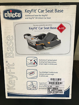 NEW Chicco KeyFit and KeyFit 30 Infant Car Seat Base in Black/Grey
