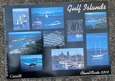 "Gulf Islands Nautical Chart 3313 Canada 16""X22"" Navigational Atlas"