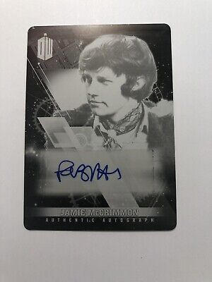 Topps Doctor Who Jamie McCrimmon Frazer Hines printing plate autograph card 1/1