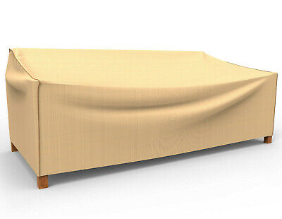 Rust-Oleum Never Wet Extra Large Outdoor Patio Sofa Cover Tan - 36x88x35 - NEW