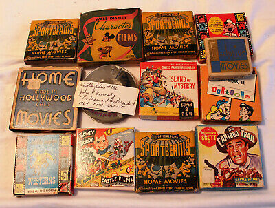 13 8Mm Films - See All Pictures - Disney - Kennedy - Westerns - 50Ft Reels