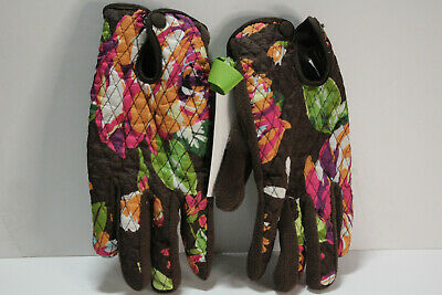 Vera Bradley Cozy Quilted Fleece Driving Gloves ENGLISH ROSE Size S/M