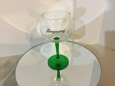 "Tanqueray Limited Edition Green Stem Gin / Cocktail Balloon Glass, 8"" Tall  MIB"