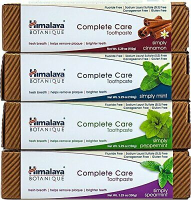 Himalaya Complete Care Toothpaste Variety Pack, Mint, Cinnamon, Peppermint and