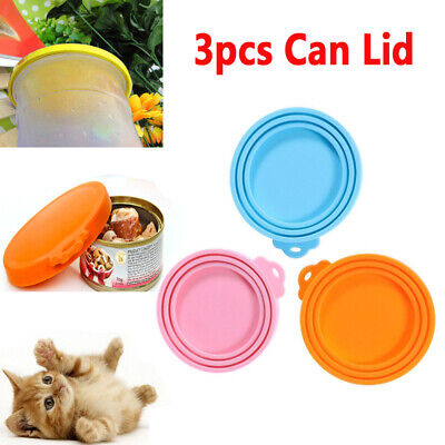 3 Pcs Lid Cover Soft Nontoxic Silicone Can Cap for Storaging Sanitation Tin Can