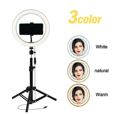 """10"""" Selfie Ring Light with Tripod Stand&Phone Holder for Live Stream/Makeup Vlog"""
