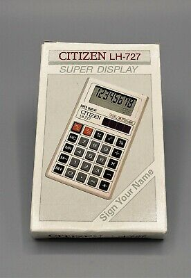 Calculadora Citizen LH-727 super display calculator Calculadora vintage