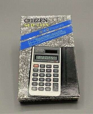 Calculadora Citizen SLD-767 Dual Power calculator Calculadora vintage