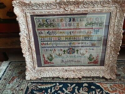 Victorian Sampler by Mary Anncorson 1878
