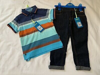 BNWT Boys Ted Baker Polo Shirt & Jeans Outfit Set Age 2-3 Years RRP:£40
