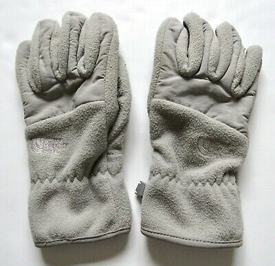 The North Face Women's Gray Fleece Gloves Size S Small