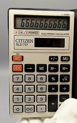 Calculadora Citizen SLD-737 Dual Power calculator Calculadora vintage Como nueva