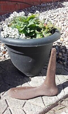 Vintage Antique Cast Iron Foot shoe last Garden door stop Rustic