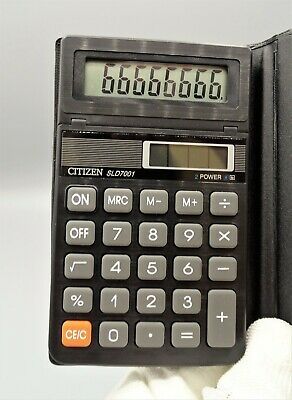 Calculadora Citizen SLD-7001 Dual Power calculator Calculadora vintage Como nuev