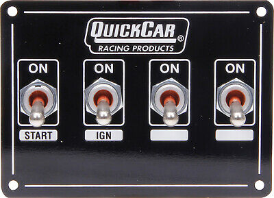 QuickCar Ignition Panel Extreme 4 Switch Dual Ignition 50-7411