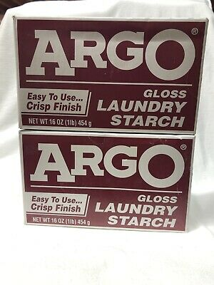Vintage Argo Gloss Laundry Starch Exp. 2017
