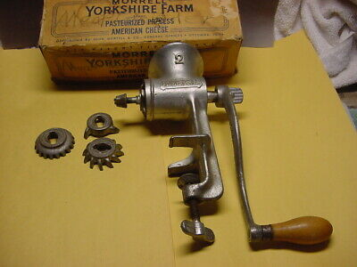 Vintage Universal #2 Meat Grinder With Three Blades