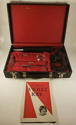 Antique Master Electric Violet Ray w/(3) Wands and Carrying Case