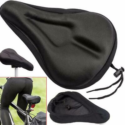 2x Cycling Bike Bicycle Soft Saddle Seat Cover Cushion Pad Comfortable Black BN2