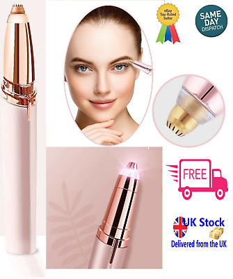 Women's Painless Electric Eyebrow Hair Trimmer Epilator Remover Brow Shaver UK