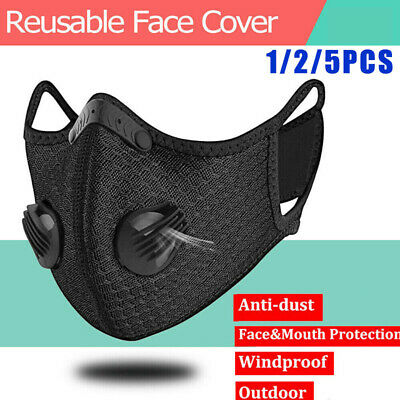Outdoor Face Shield Mouth Muffle With Breath Valve Air Purifying Dust Haze Fog