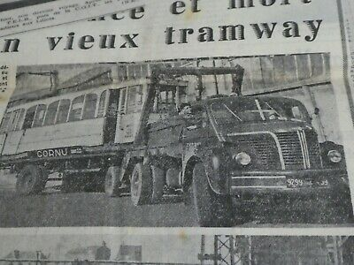 Mongy Lot Articles Annees 50 Et 60 Tramway Accident Fermeture Gare Train Lille