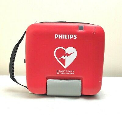 Philips Fr3 Heartstart Aed Defib + 2022 Battery, 12/2021 Pads, Ecg & Child Key