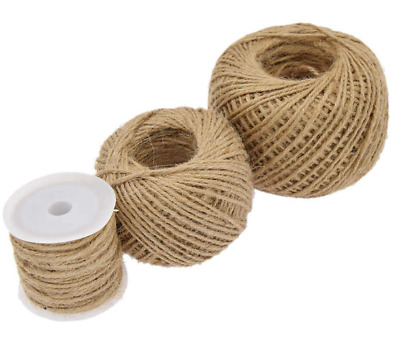 3mm Natural Hessian Twine Twisted Rope Hessian Brown Soft Jute 3 Ply Rustic Cord