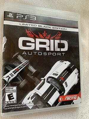 GRID AUTO SPORT Limited Black Edition PS3 game Complete