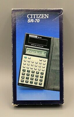 Calculadora Citizen SR-70 scientific calculator  Calculadora vintage, antigua.