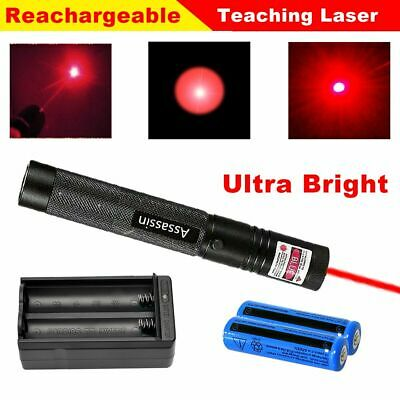 900Miles 650nm Red Beam Laser Pointer Pen 18650 Rechargeaable Torch Lazer+Char