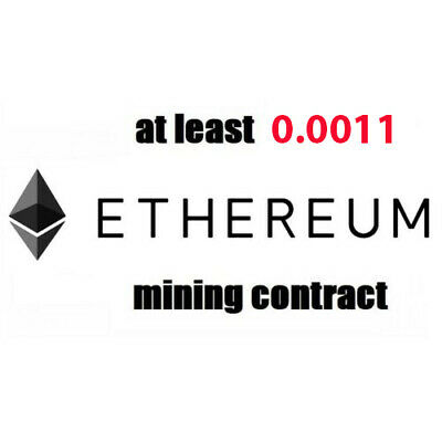1 hour Mining Contract (0.0011 ETH) Ethereum