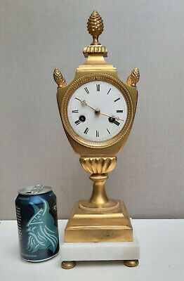 Antique French Empire Gilded Bronze Half Hour Repeater Pendulum Clock 1810