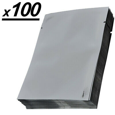 x100 Mylar Bags, Aluminum Smell Proof Vacuum Seal Long Term Storage 3.15x4.72in
