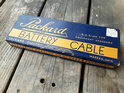 NOS 1930s Packard Battery Cable 5U6 With Original Box 1929-1932 GM old OEM NIB