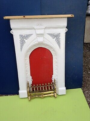 Cast Iron Painted Antique Fireplace  Flush Fitting.