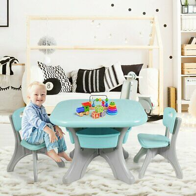 Kids Activity Table And Chair Set Play Furniture With Storage