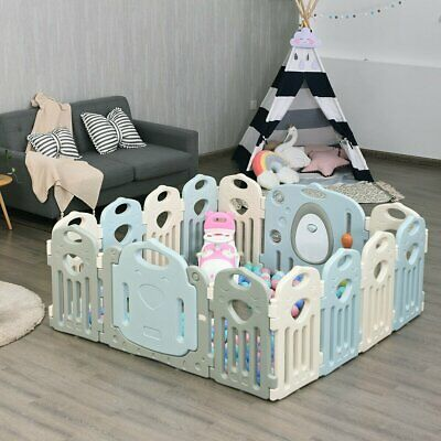 Kids Baby Playpen 14 Panel Activity Center Safety Play Yard