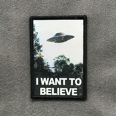 Tactical Outfitters - I WANT TO BELIEVE MORALE PATCH - ufo x-files alien