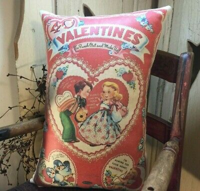 Vintage 1940 Style Valentine Heart Card Package Box Advertising Whitman Pillow
