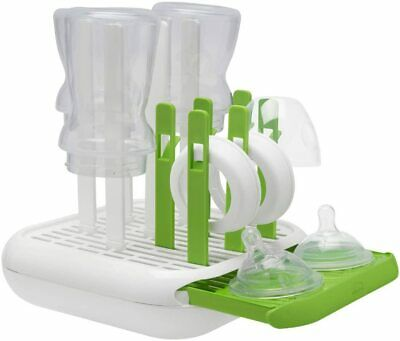 Chicco Baby Bottle Drainer Drying Rack Safe Storing Lids Dummies Accessories New
