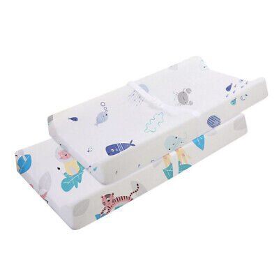 2Pcs Crib Sheet Breathable Cotton Replacement Soft Baby Bed Sheet for Girls Boys