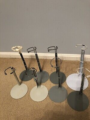 Lot Of 8 Kaiser Manufacturing Co. Doll Stands Adjustable