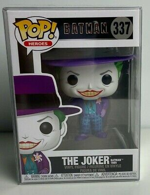 Funko POP! Heroes: Batman 1989 The Joker #337 with Protector in- stock
