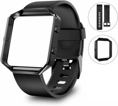 Fitbit Blaze Bands with Frame, Sport Silicone Replacement Strap for Fitbit Blaze
