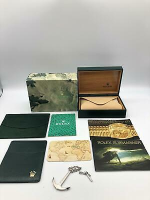Rolex Genuine Submariner 16610 watch box case 68.00.55 Booklet Anker.. 0510002