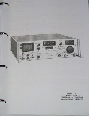 MICROTEL 1295 MEASUREMENT RECEIVER operational service manual  COPY