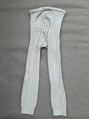 🌺🌺 MINI BODEN Grey Cable Knit Footless Tights 5-6y